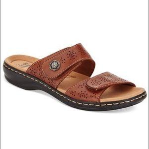 Clark's Leisa Lacole Sandals - Tan Leather